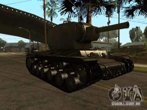 KV-2 para GTA San Andreas esquerda vista
