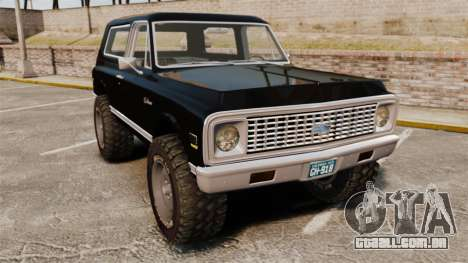 Chevrolet Blazer K5 1972 para GTA 4