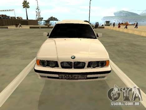 BMW 525 E34 para GTA San Andreas vista traseira