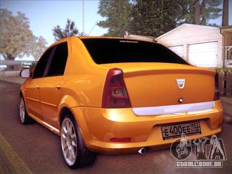 Dacia Logan GrayEdit para GTA San Andreas vista traseira