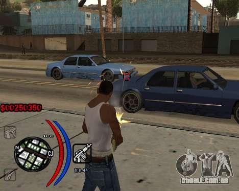 C-HUD Carbon para GTA San Andreas terceira tela