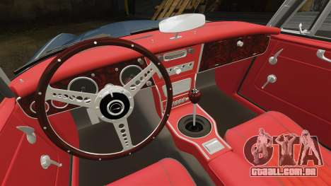 Austin-Healey 3000 Mk III 1965 para GTA 4 vista interior