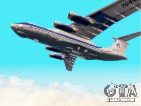 Il-76td Gazpromavia para GTA San Andreas vista traseira