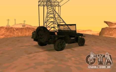 Willys MB v ju2 para GTA San Andreas esquerda vista