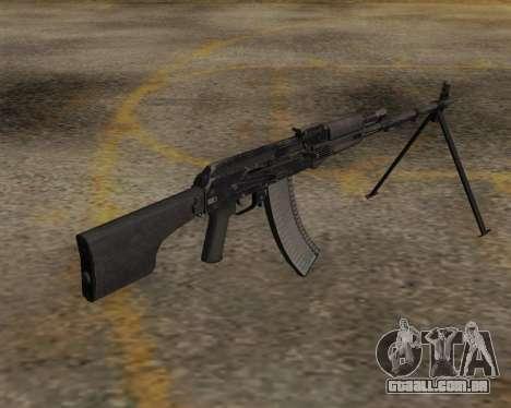 O RPK-74 m para GTA San Andreas segunda tela