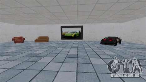 Exposição de carros Lamborghini para GTA 4 por diante tela