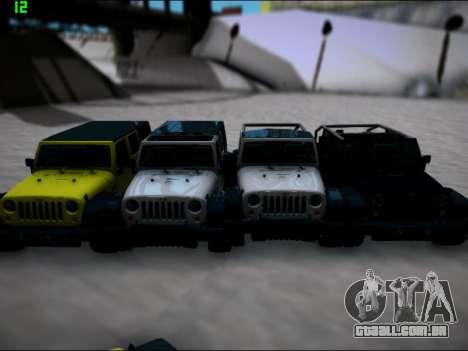 Jeep Wrangler Unlimited 2007 para GTA San Andreas traseira esquerda vista