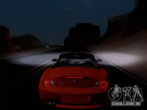 BMW Z4 Edit para GTA San Andreas vista interior