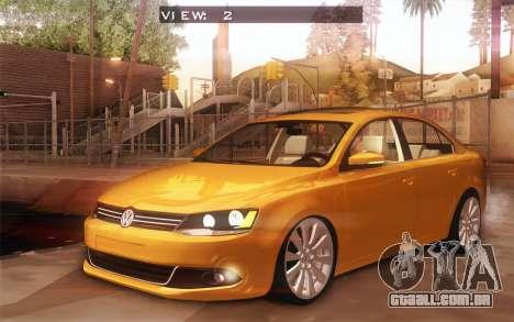 Volkswagen Vento 2012 para GTA San Andreas vista interior
