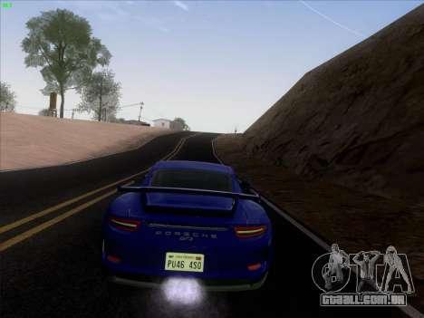 Porsche 911 GT3 2014 para GTA San Andreas vista interior