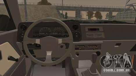 Toyota Corolla GT-S AE86 1985 para GTA San Andreas vista interior