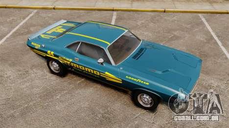 Dodge Challenger 1971 v1 para GTA 4 vista lateral