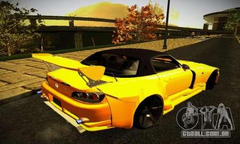 Honda S2000 Amuse GT1 para GTA San Andreas traseira esquerda vista