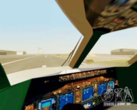 Sukhoi Superjet 100-95 Aeroflot para vista lateral GTA San Andreas