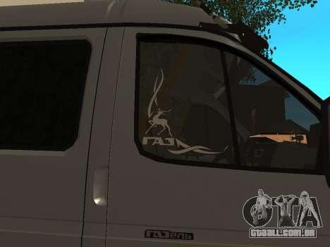 33023 gazela negócios para GTA San Andreas vista traseira