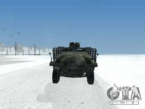 SdKfz 251 para GTA San Andreas esquerda vista