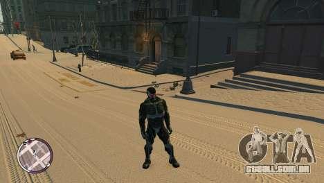 Crysis NanoSuit para GTA 4 terceira tela