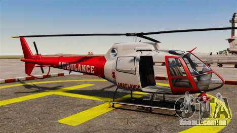 GTA V Police Maverick para GTA 4 vista de volta