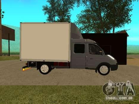 33023 gazela negócios para GTA San Andreas traseira esquerda vista