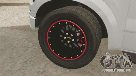 Ford SVT Raptor 2012 para GTA 4 vista de volta