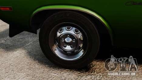 Dodge Challenger 1971 v2 para GTA 4 vista de volta