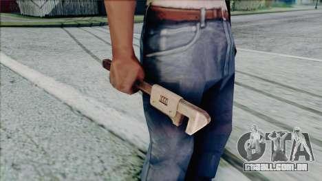 Chave ajustável para GTA San Andreas quinto tela