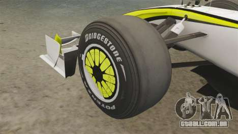 Brawn BGP 001 2009 para GTA 4 vista interior