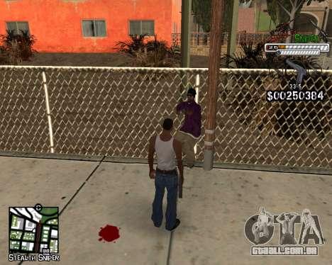 C-HUD by Stealth Sniper para GTA San Andreas terceira tela
