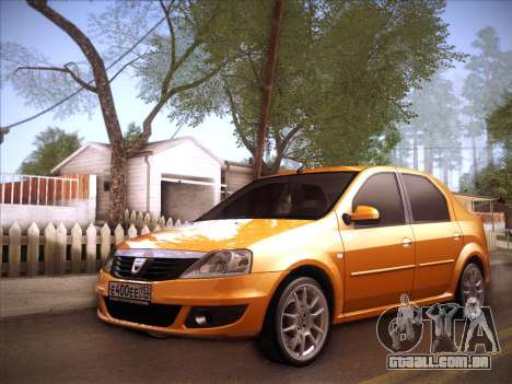 Dacia Logan GrayEdit para GTA San Andreas vista interior