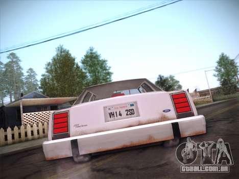 Ford LTD Crown Victoria 1985 para GTA San Andreas vista inferior