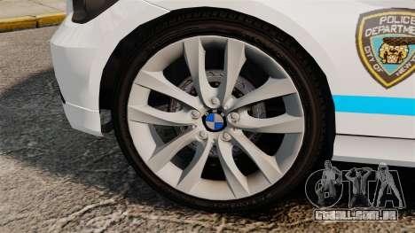 BMW 350i NYPD [ELS] para GTA 4 vista de volta