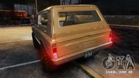 Chevrolet Blazer K5 1972 para GTA 4 motor