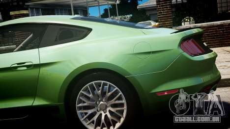 Ford Mustang GT 2015 para GTA 4 vista direita