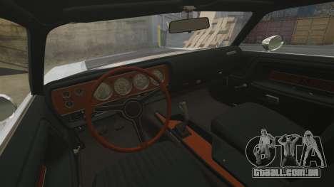 Dodge Challenger 1971 v1 para GTA 4 vista interior