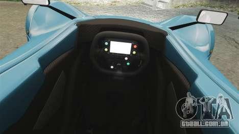 BAC Mono v2.0 para GTA 4 vista interior