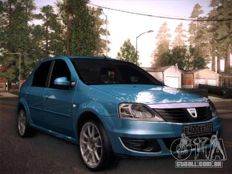 Dacia Logan GrayEdit para GTA San Andreas traseira esquerda vista