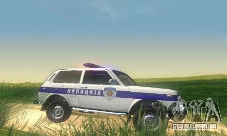 Lada Niva Patrola para GTA San Andreas traseira esquerda vista