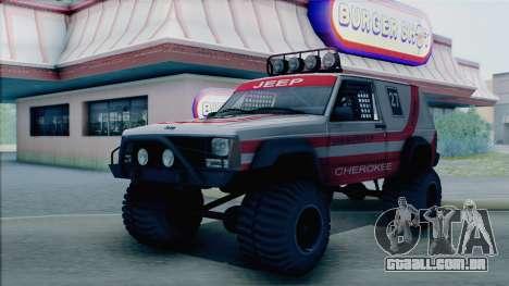 Jeep Cherokee 1984 Sandking para GTA San Andreas