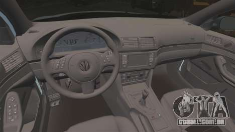 BMW M5 E39 2003 para GTA 4 vista lateral