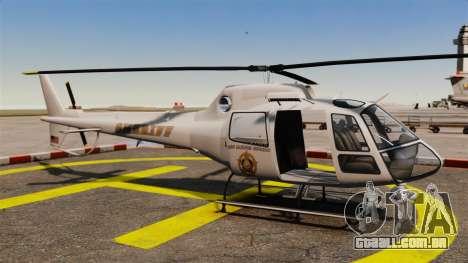 GTA V Police Maverick para GTA 4 vista direita