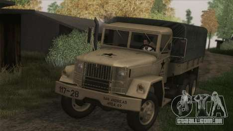 AM General M35A2 1950 para GTA San Andreas traseira esquerda vista