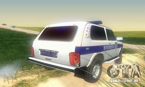 Lada Niva Patrola para GTA San Andreas vista direita