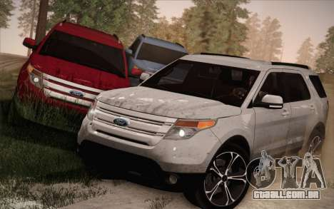 Ford Explorer 2013 para GTA San Andreas vista inferior