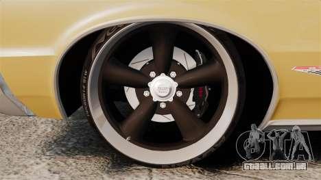 Pontiac GTO 1965 para GTA 4 vista de volta