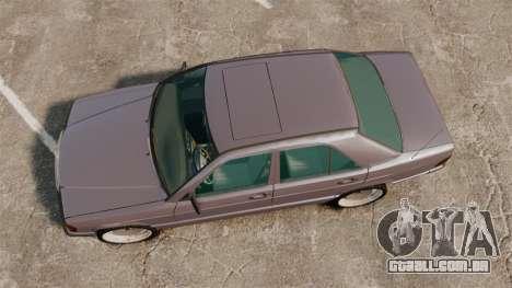 Mercedes-Benz E190 W201 para GTA 4 vista direita