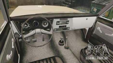Chevrolet Blazer K5 1972 para GTA 4 vista de volta