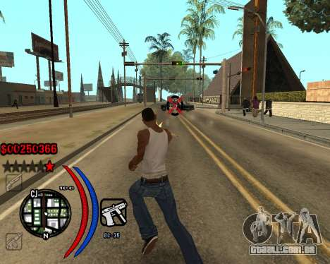 C-HUD Carbon para GTA San Andreas segunda tela