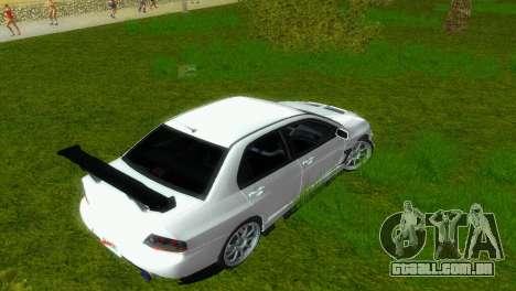 Mitsubishi Lancer Evolution VIII Type 8 para GTA Vice City vista lateral