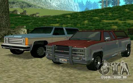 Bobcat XL de GTA 5 para GTA San Andreas traseira esquerda vista