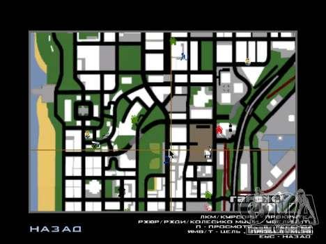 Novo capô e ícones no mapa para GTA San Andreas segunda tela